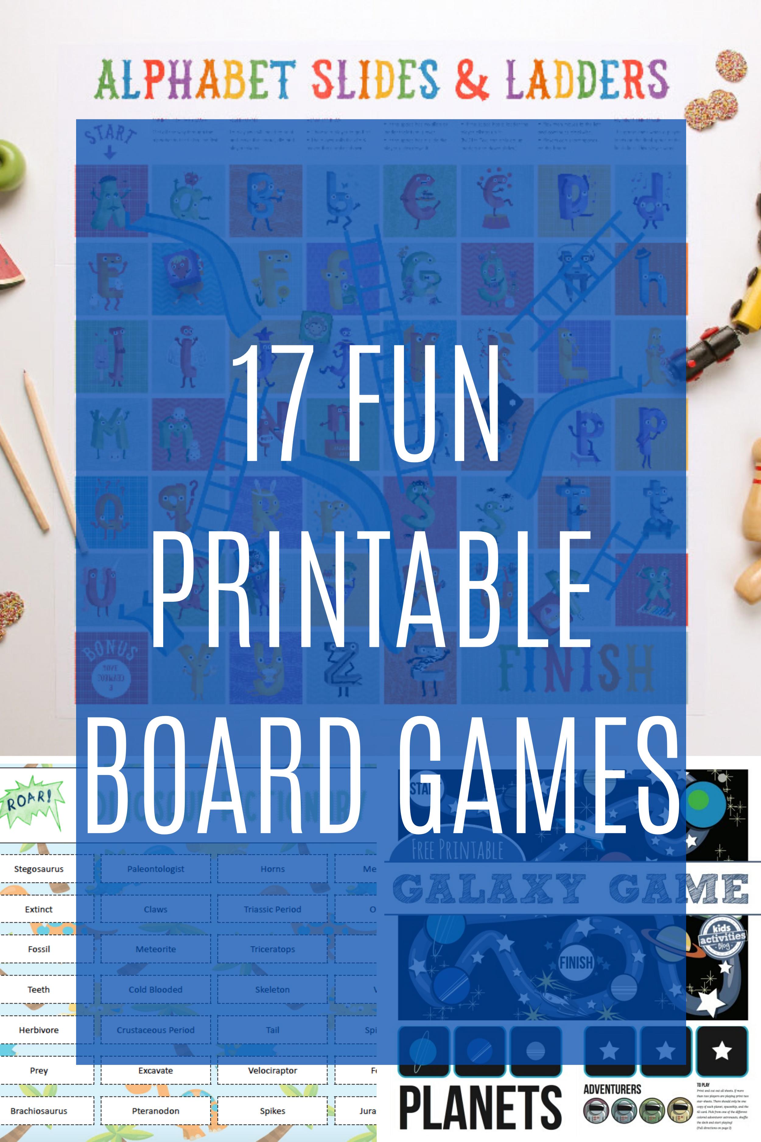 17 Fun Printable Board Games