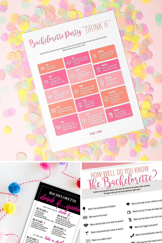Printable Bachelorette Party Games