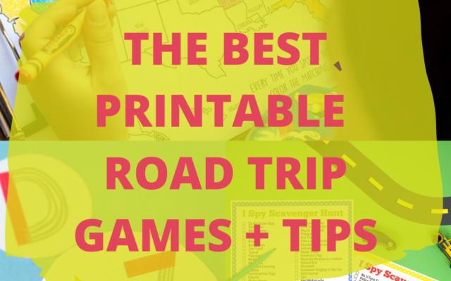 The Best Printable Road Trip Games