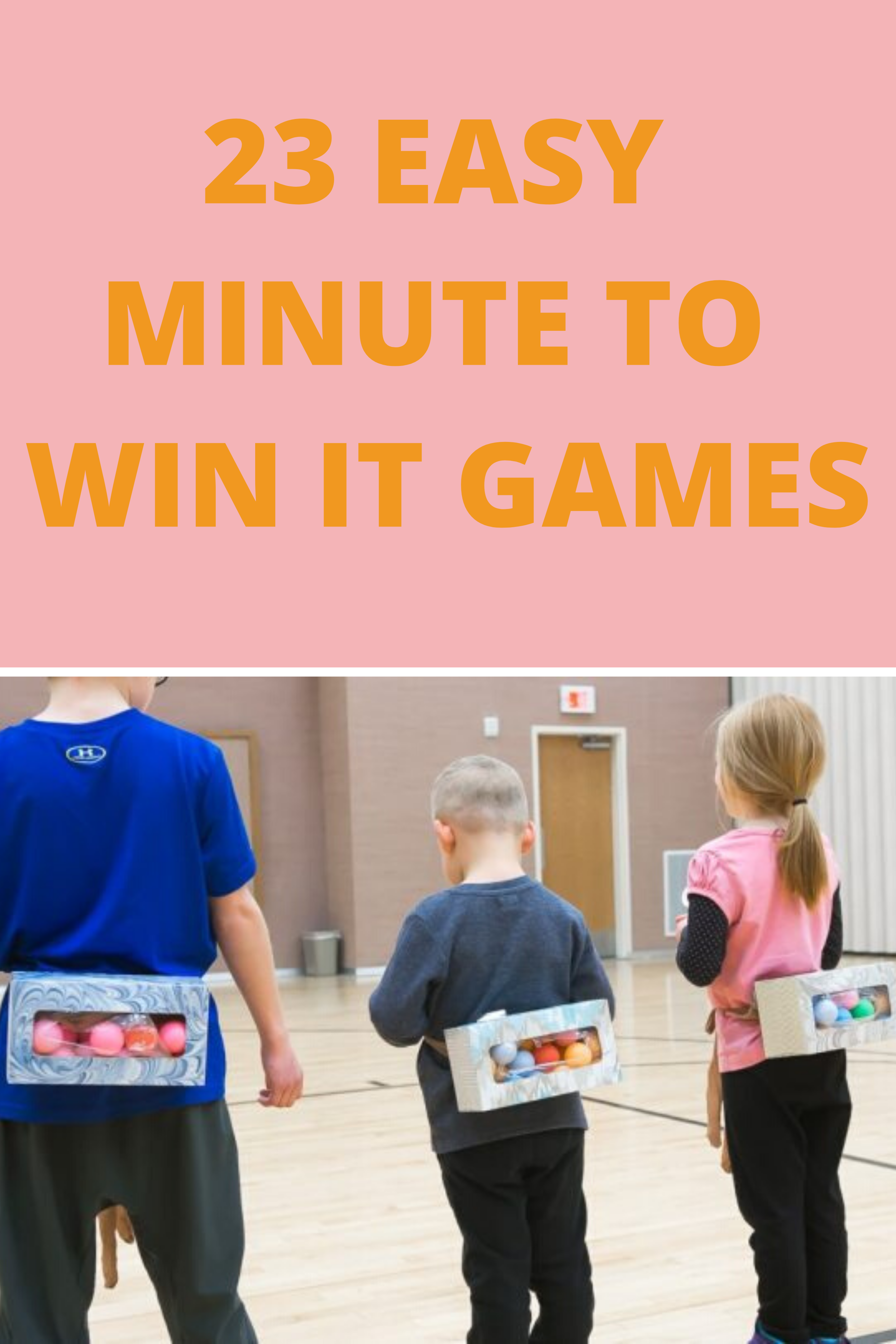 Easy Minute to Win It Games