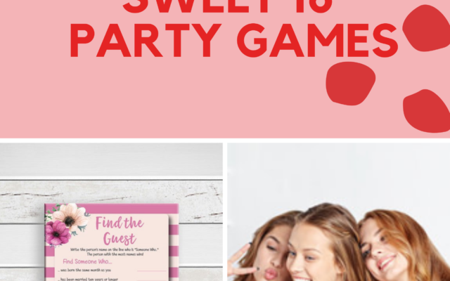 Printable Sweet 16 Party Games