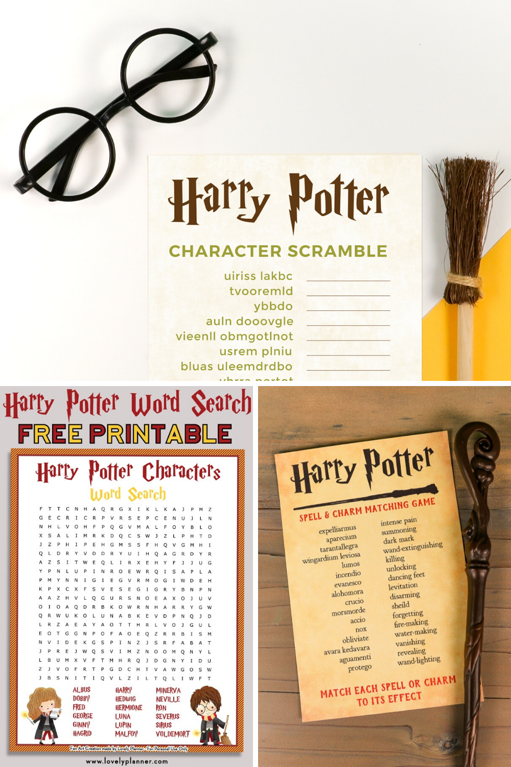 Printable Harry Potter Games