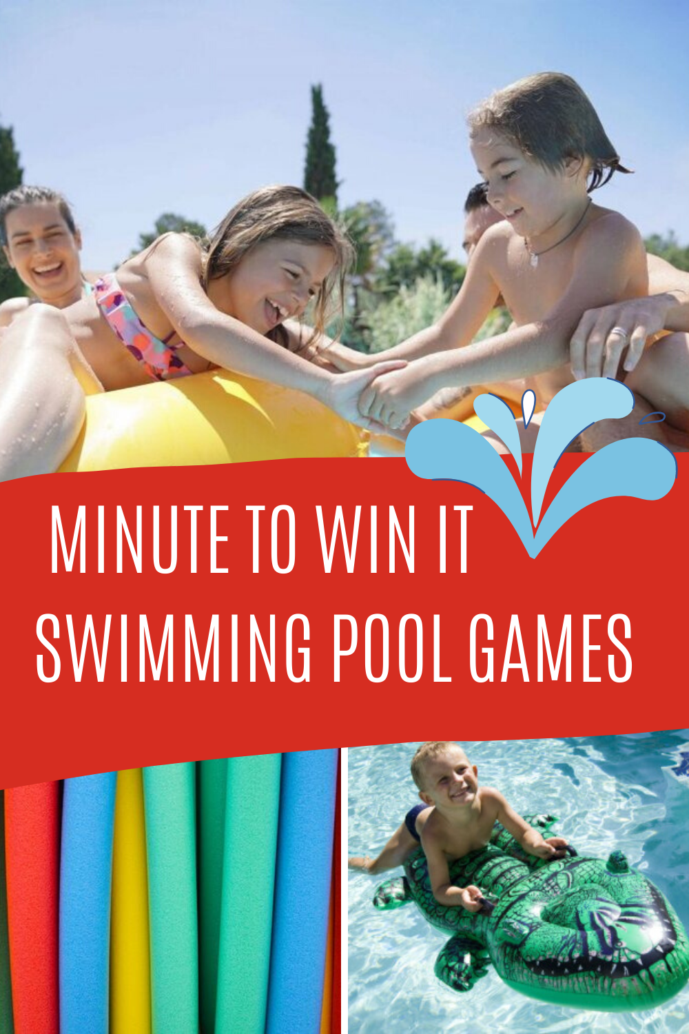 Minute to Win It Swimming Pool Games