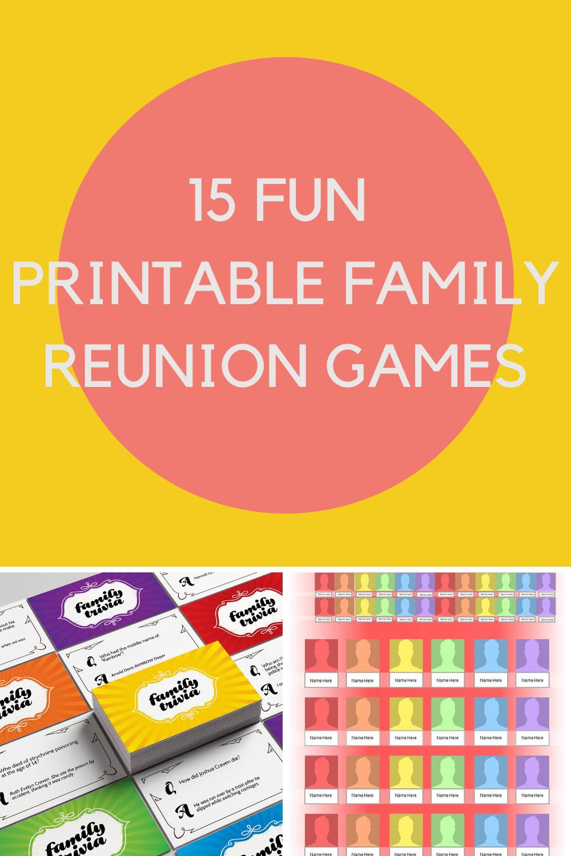 printable Family reunion games