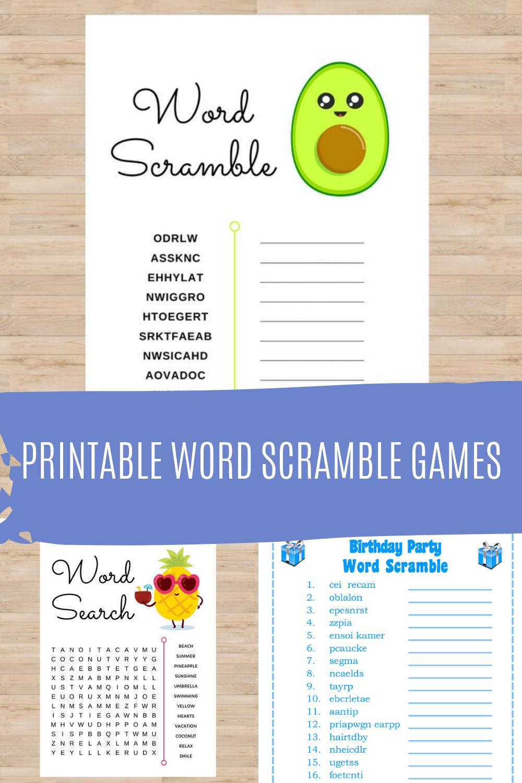 Scramble Game