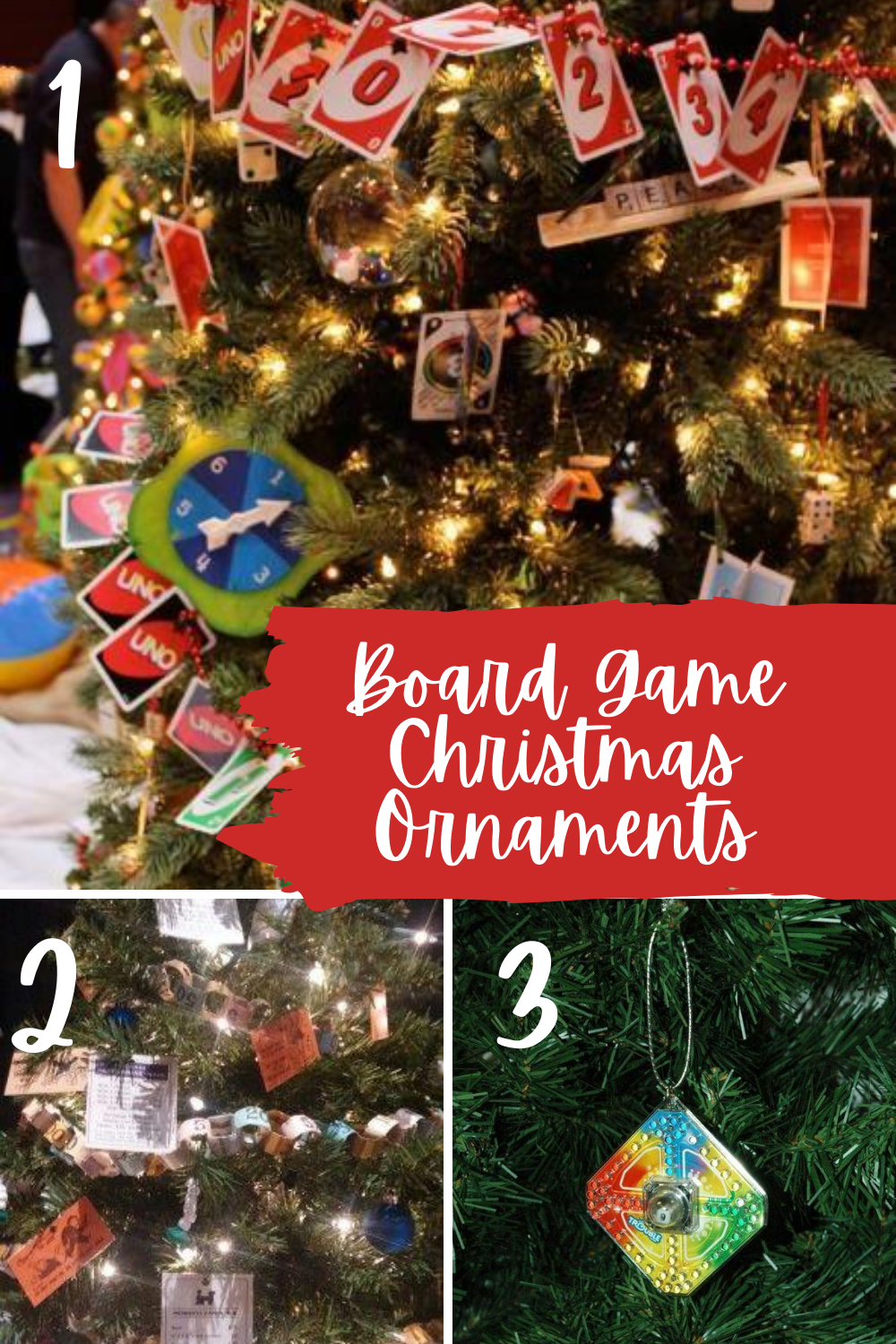 Board Game Christmas Ornaments