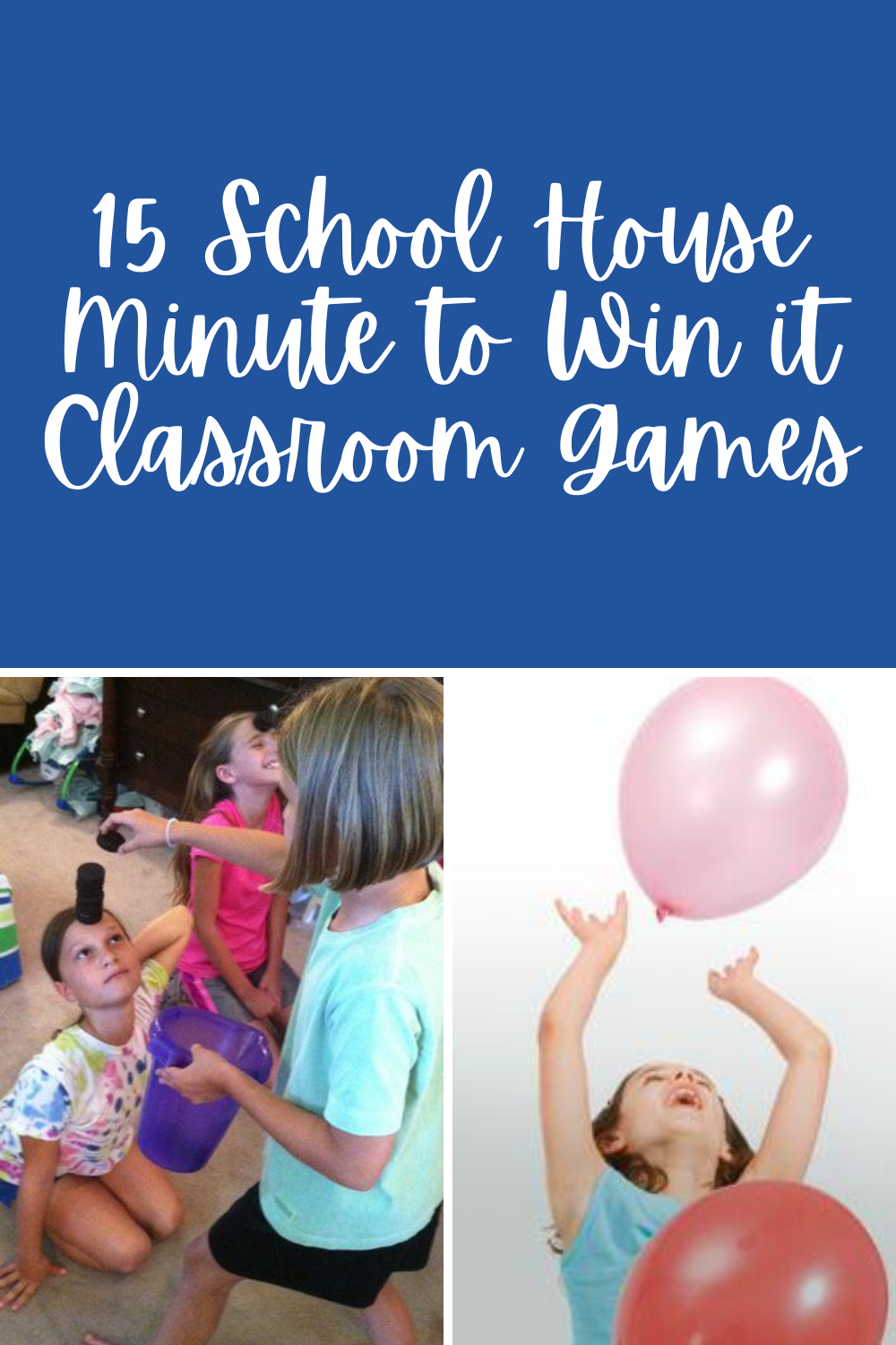 Educational Minute to Win It Classroom Games
