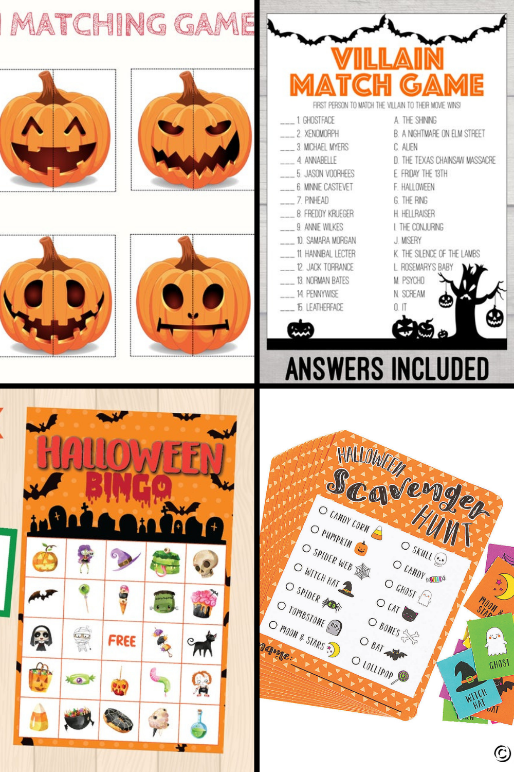 Printable Halloween Games