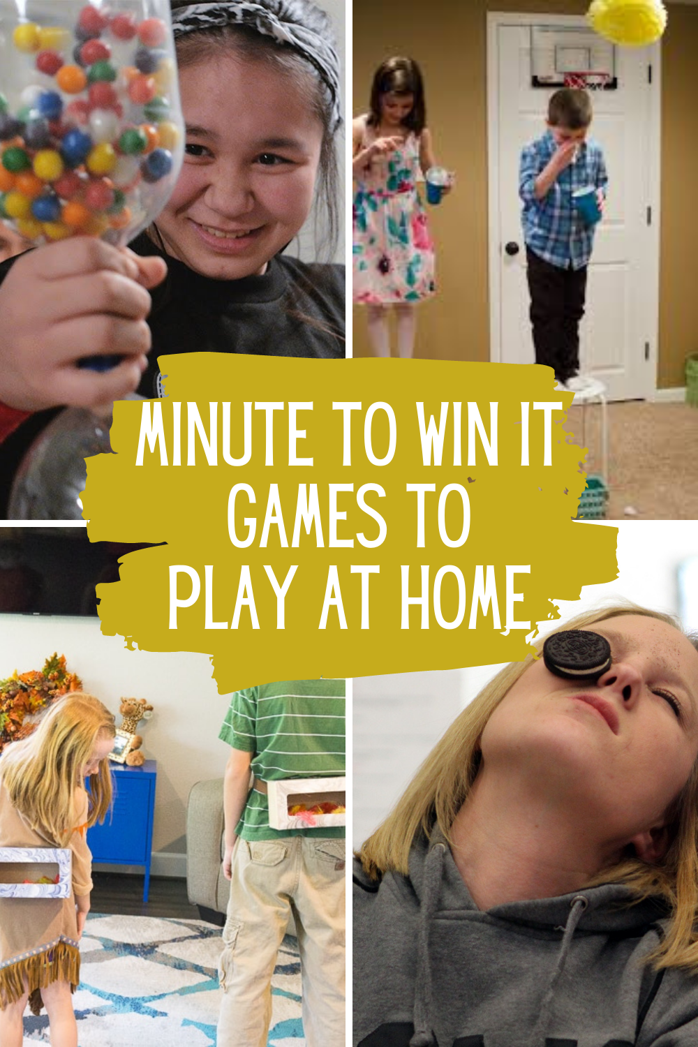 Minute to Win It Games at Home