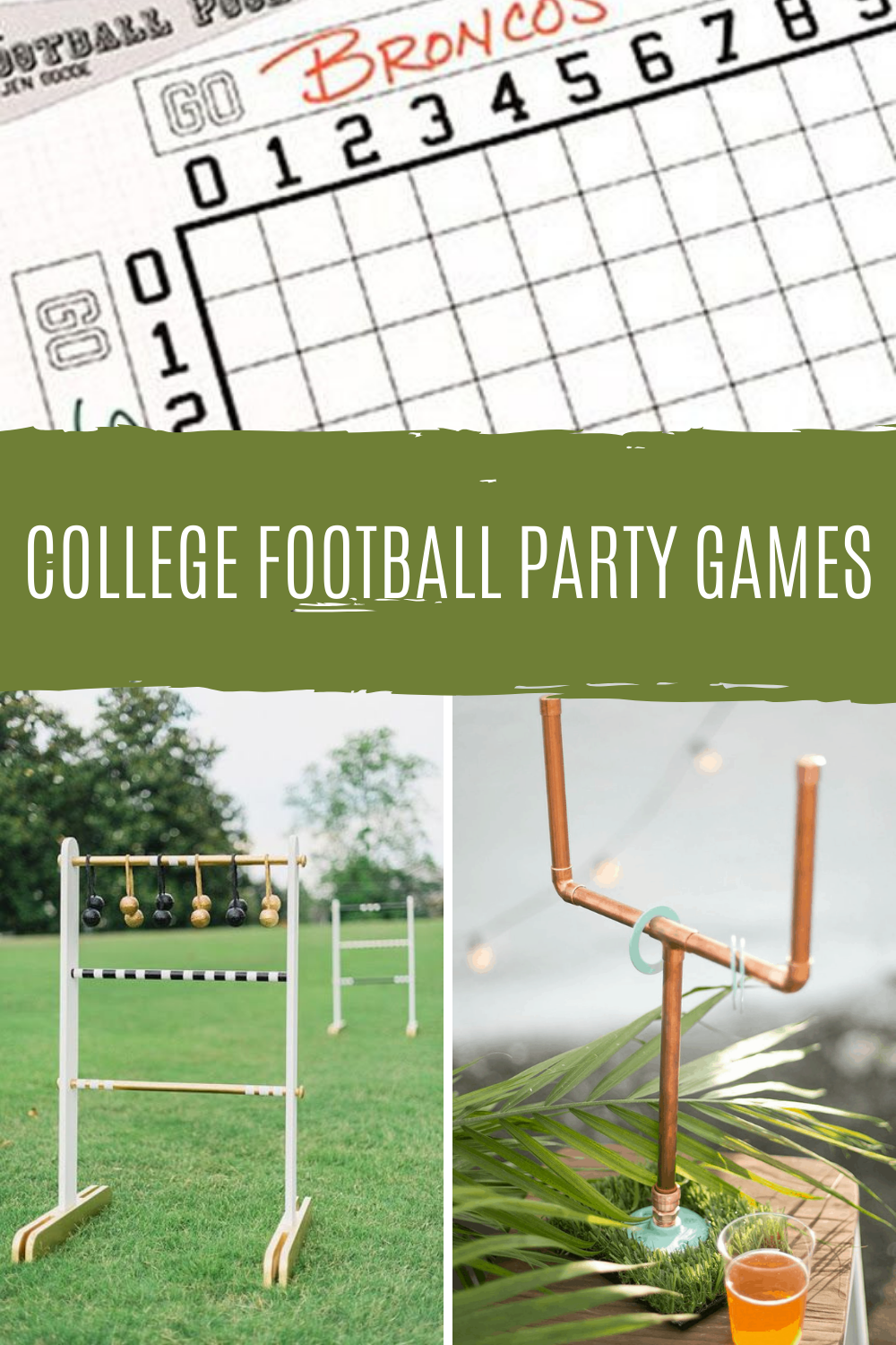 college football party games