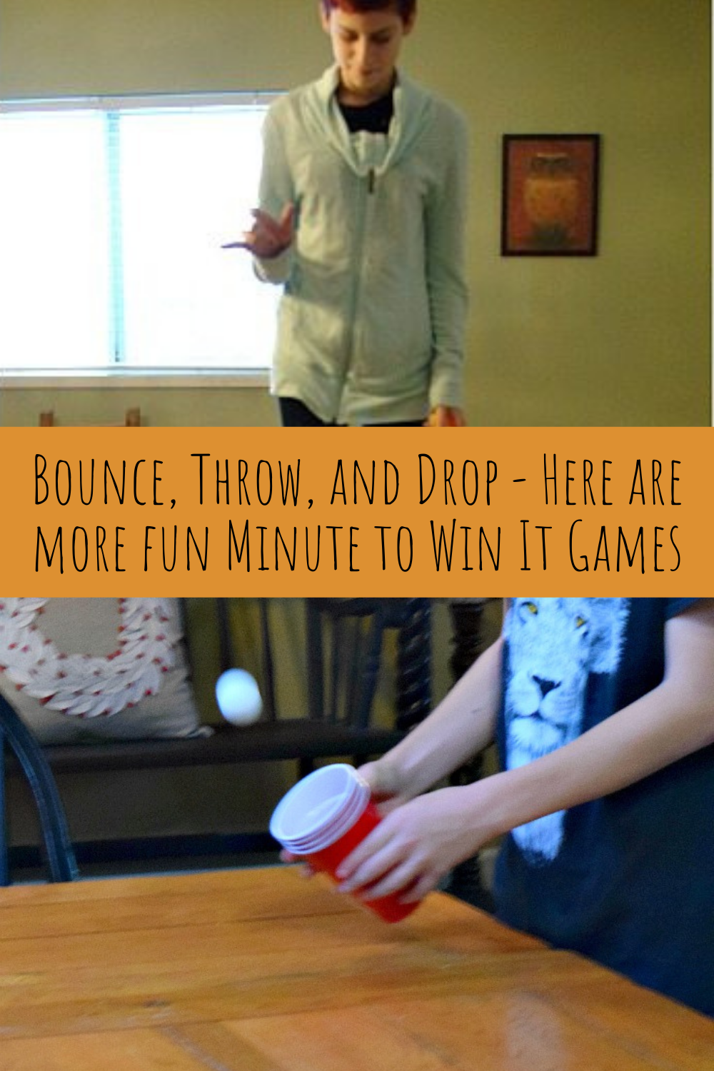 Minute to Win It games with Ping Pong Balls