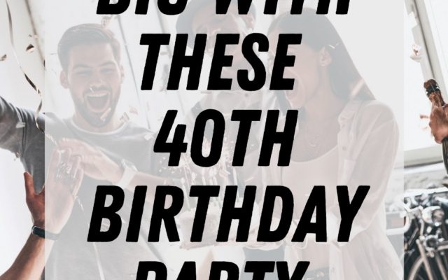40th Birthday Party Games