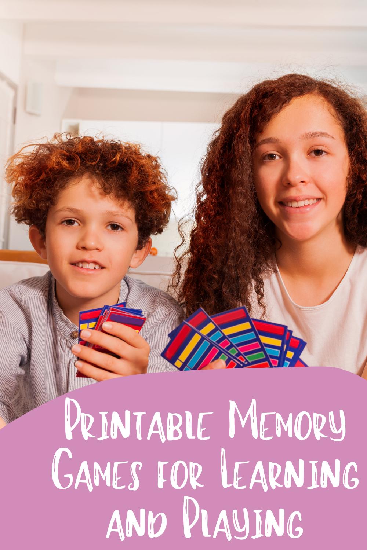 Printable Memory Games