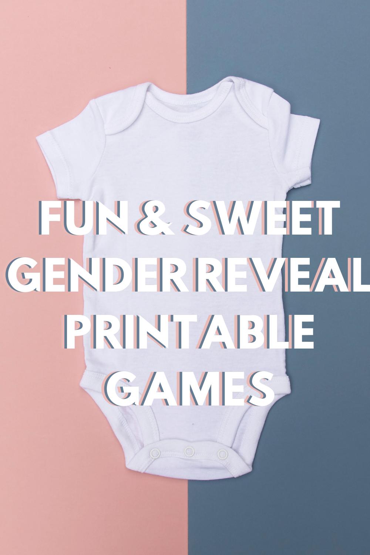 Gender Reveal Printable Games