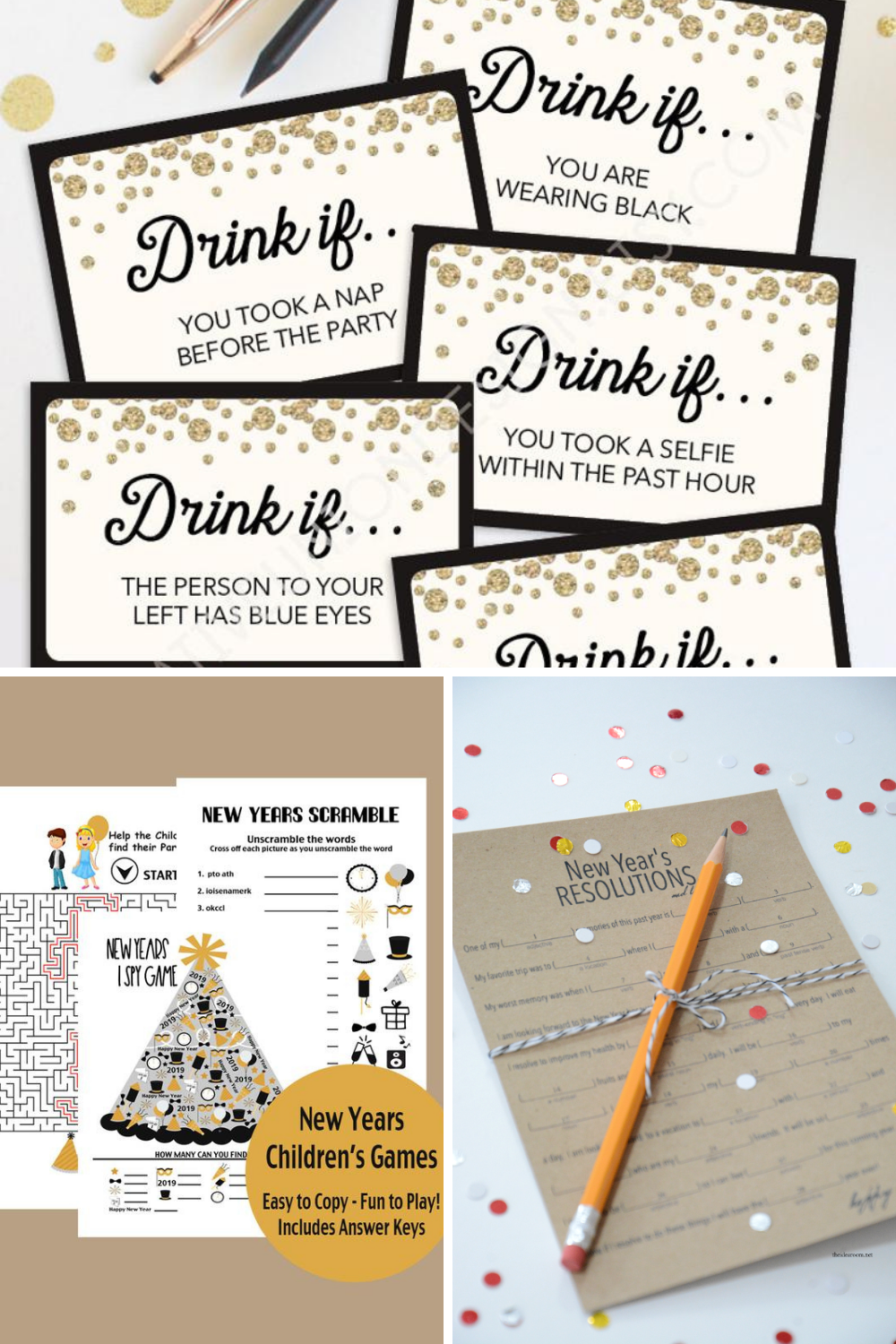New Years Eve Printable Games