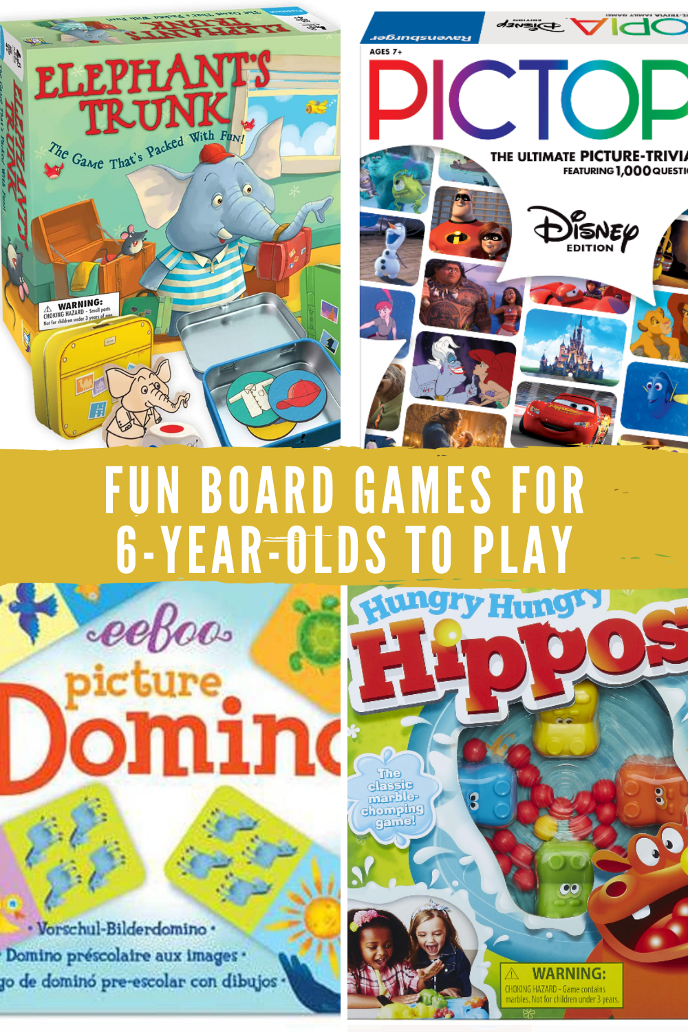 Fun Board Games for 6 Year Olds