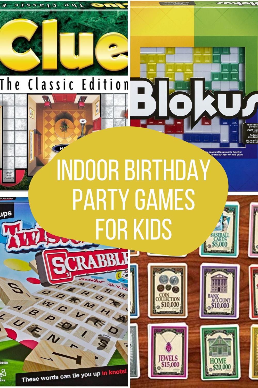 Indoor Birthday Party Games