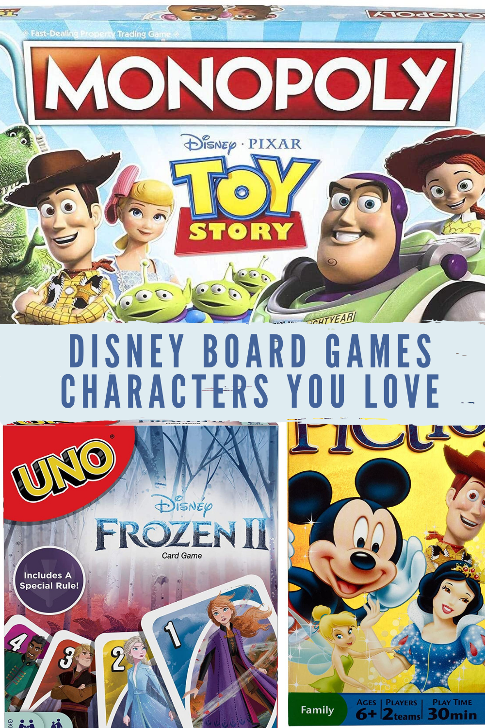 Disney Board Games By Character