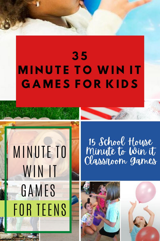 minute to win it ideas kids games