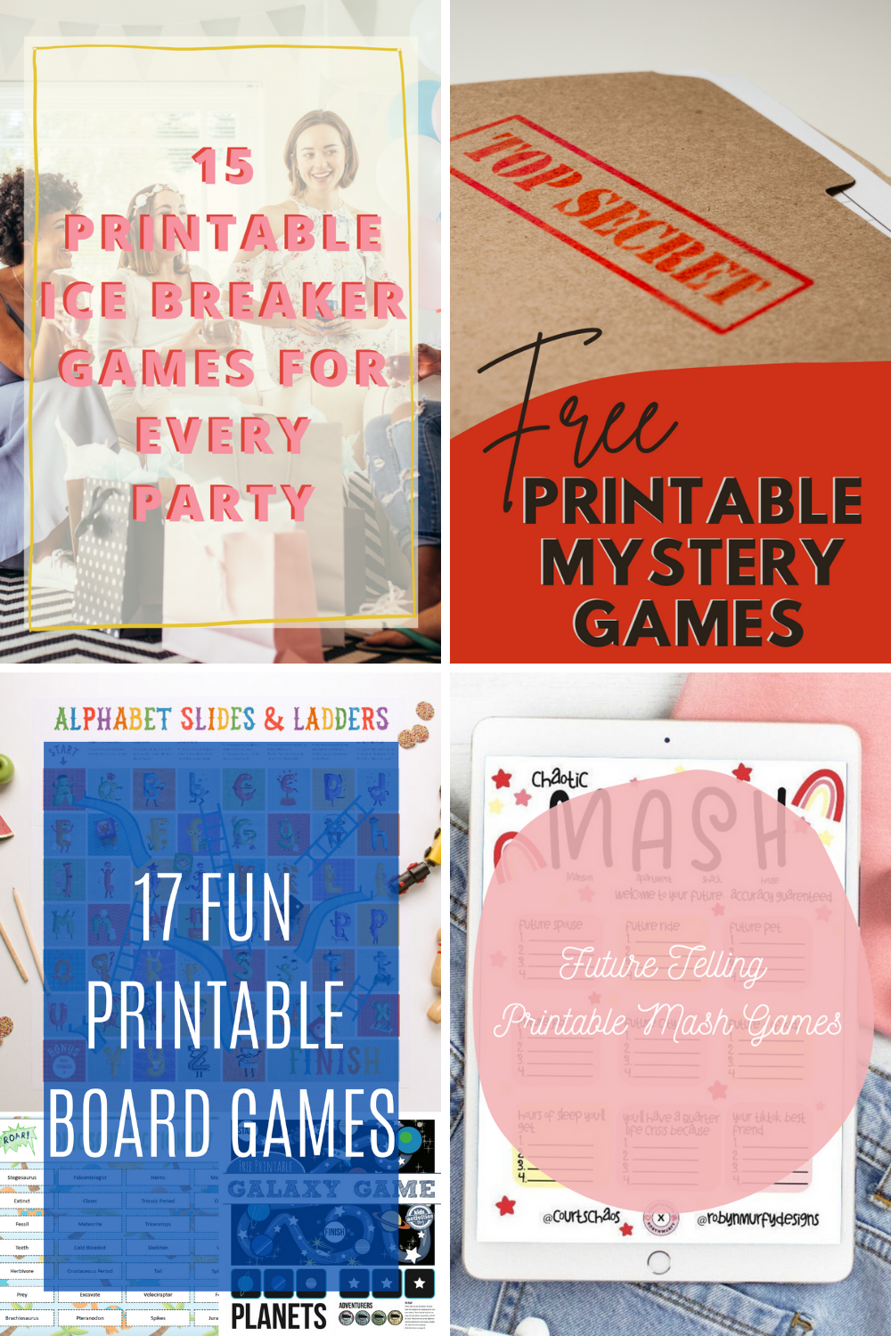 Printable Games For Every Party