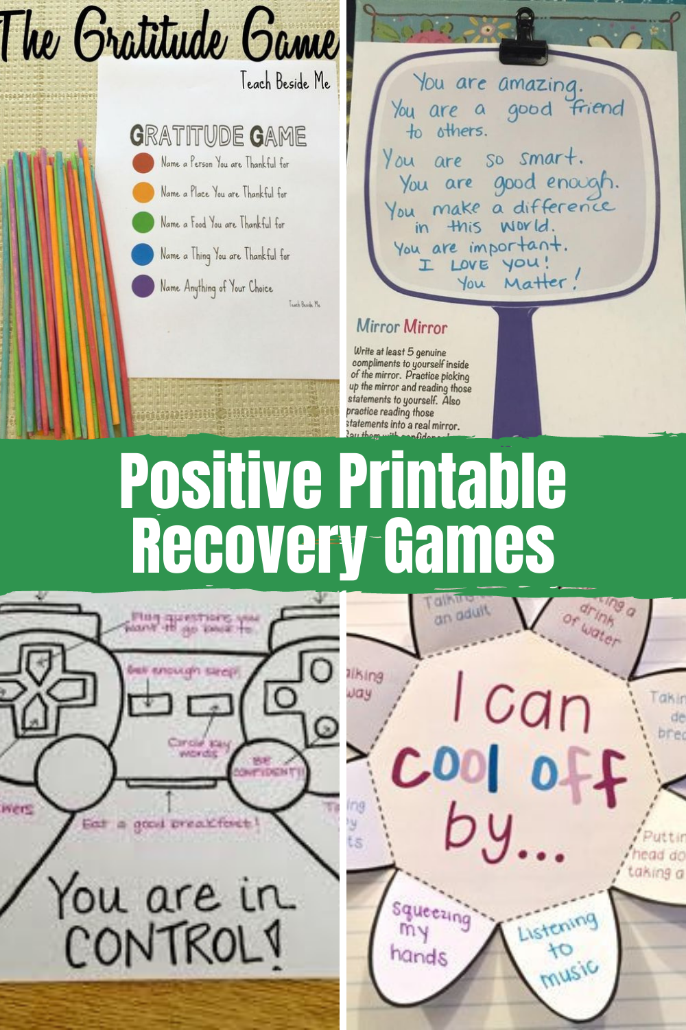 Printable Recovery Games & Activities For Recovery