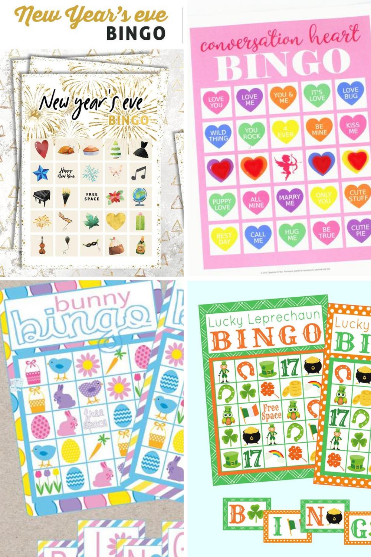 Holiday Activity Ideas Bingo Party Games