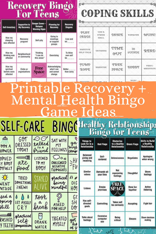 Mental Health Bingo Games
