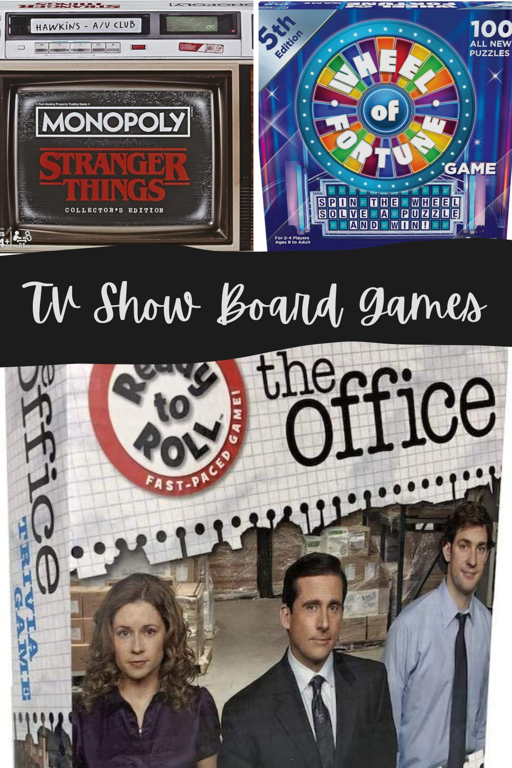 board games based on tv shows funny