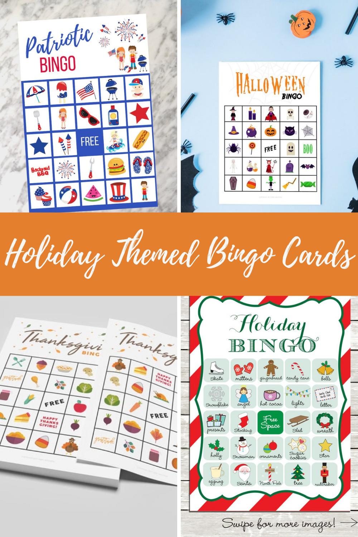 Holiday Theme Printable Bingo Game Cards