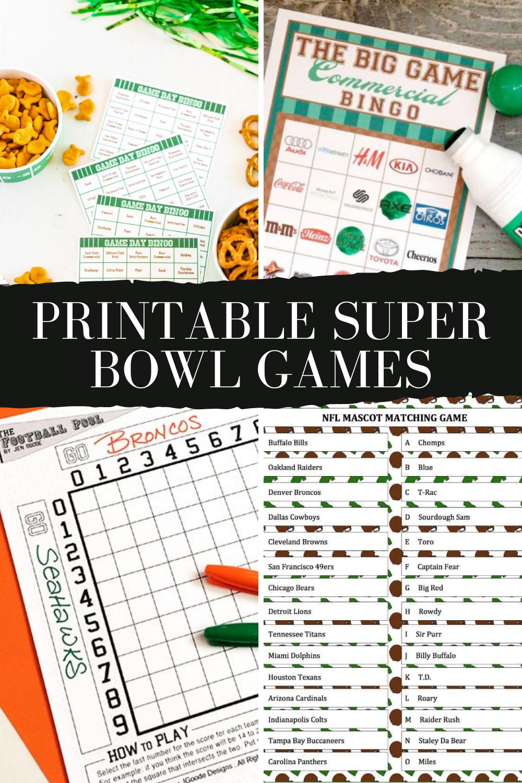 Printable Football Games For Superbowl