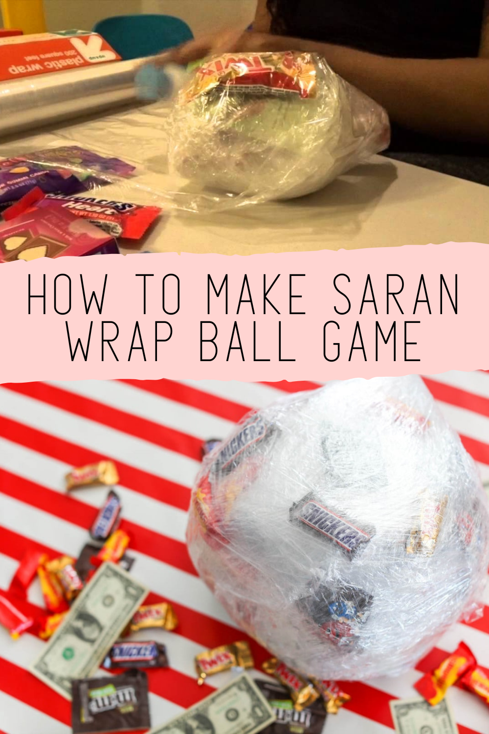 How To Make The Christmas Gift Game With Saran Wrap