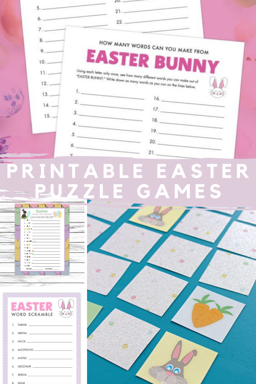 Printable Easter Games Puzzle