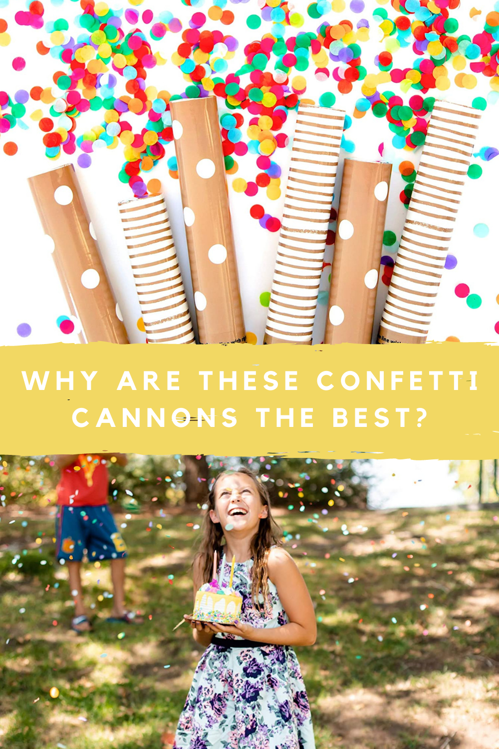 Confetti Cannon with Biodegradable Confetti Safe For Use Outdoors