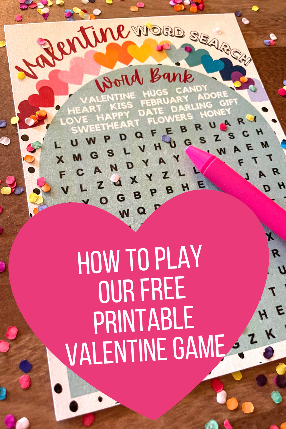 Free Printable Valentine Game classroom valentine party games to print.
