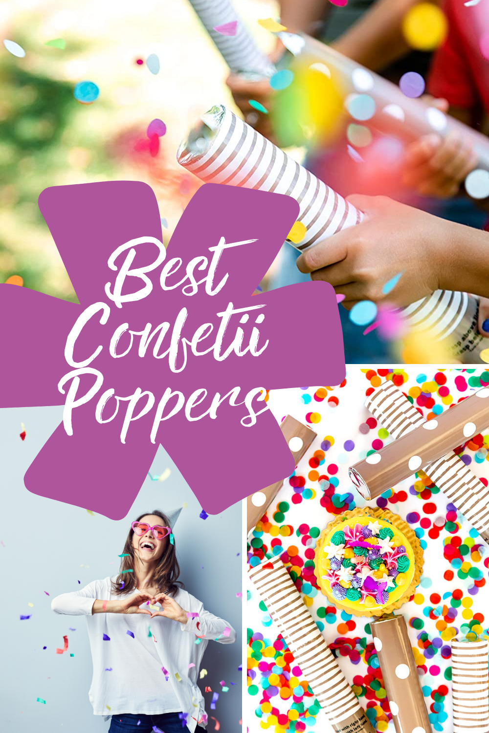 Best Confetti Poppers with colorful confetti