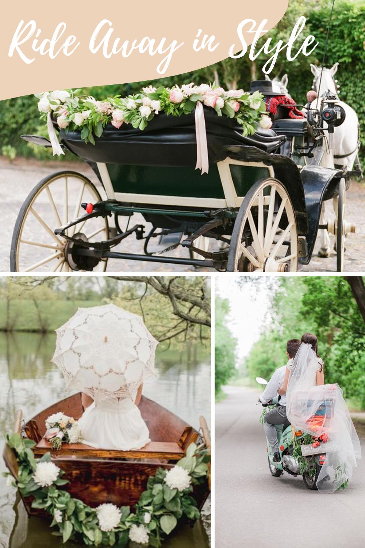 Wedding Get Away Car Ride Off