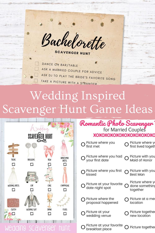 Wedding Scavenger Hunt Ideas for Wedding Day Games