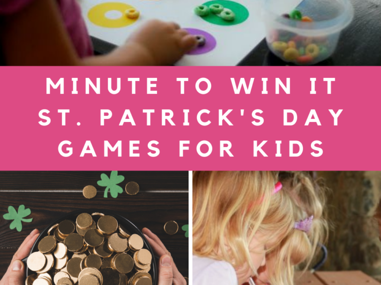 Min to Win It St. Patricks Day Games for Kids