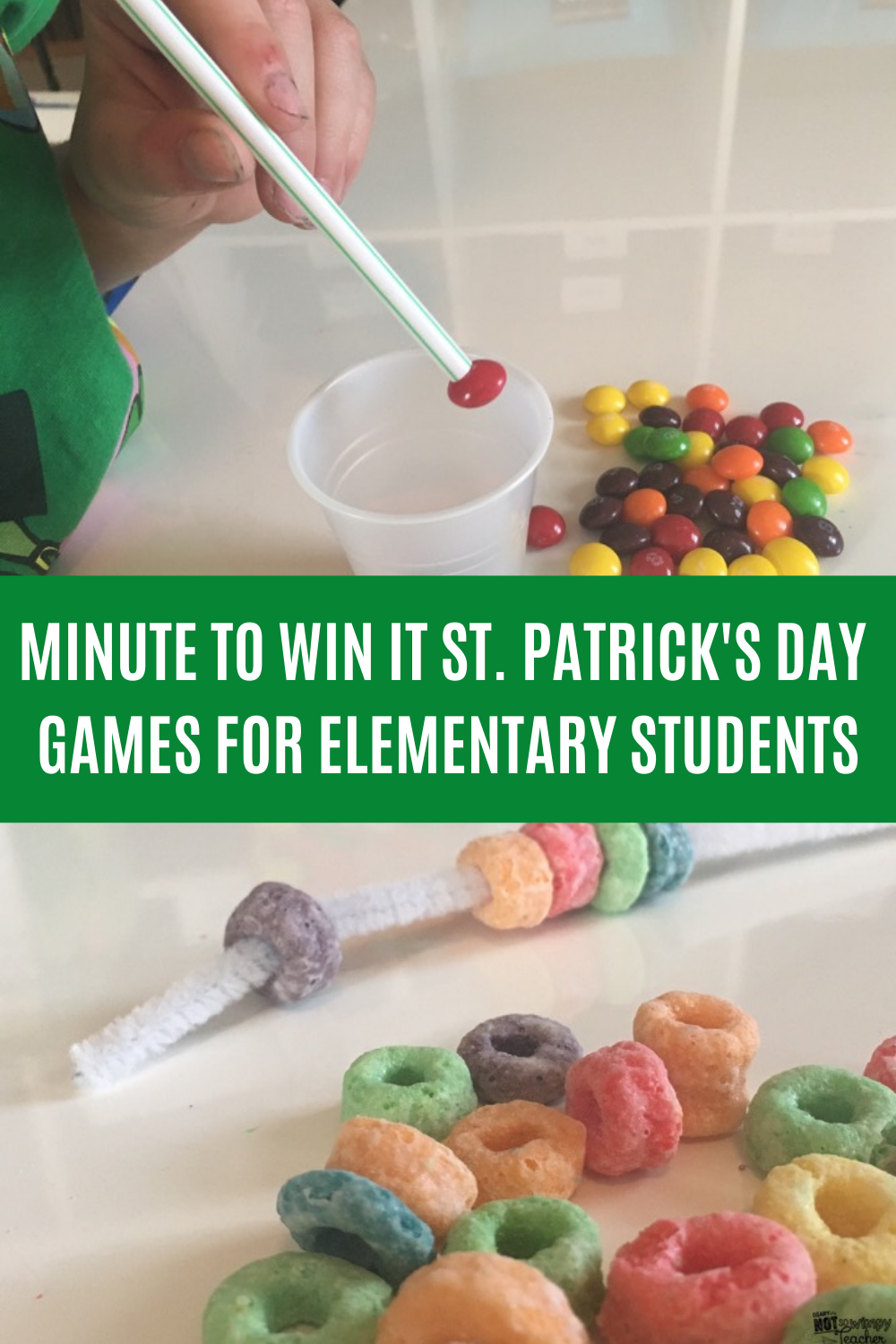 Min to Win It St. Patricks Day Games for Elementary Students Classroom Games