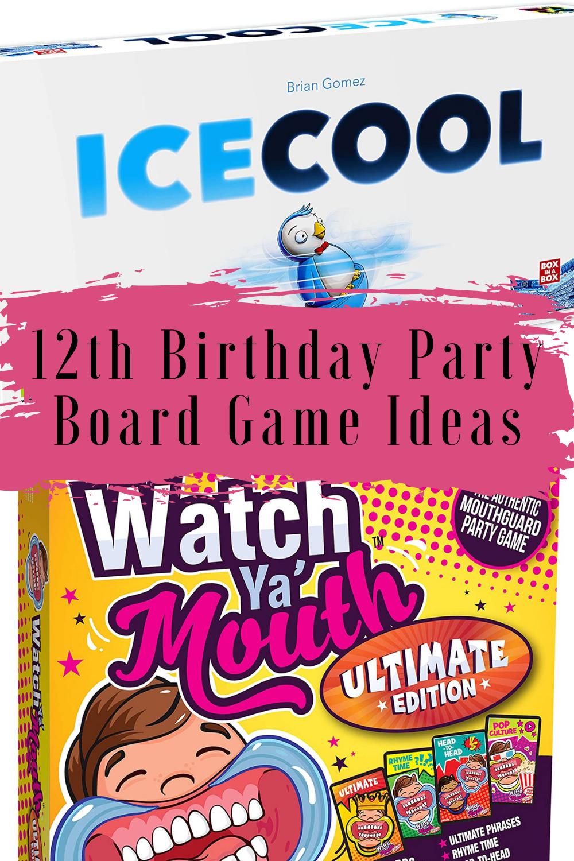 12th Birthday Board Game Ideas