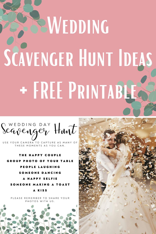 Wedding Scavenger Hunt Free Printable Download