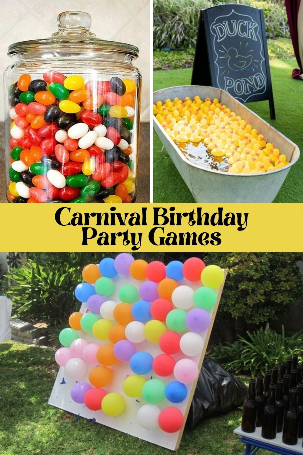 Outdoor Carnival Birthday Party Games