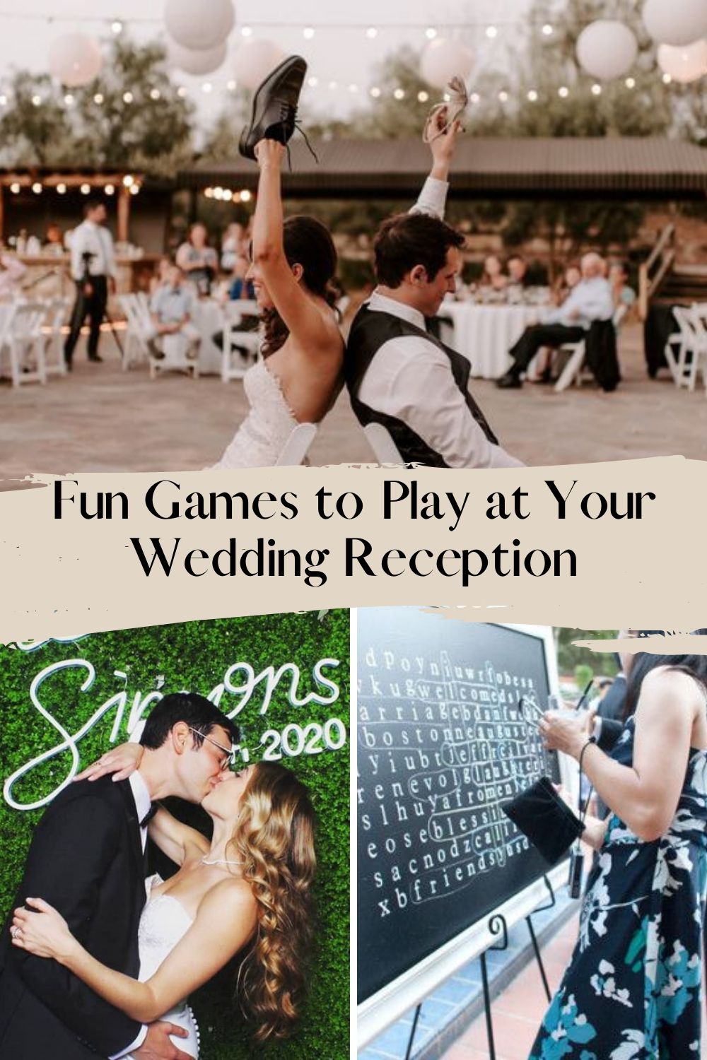 Fun games to play at your wedding reception