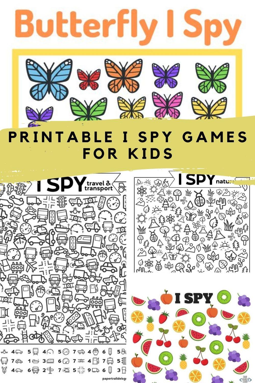 I Spy Game Printable Ideas