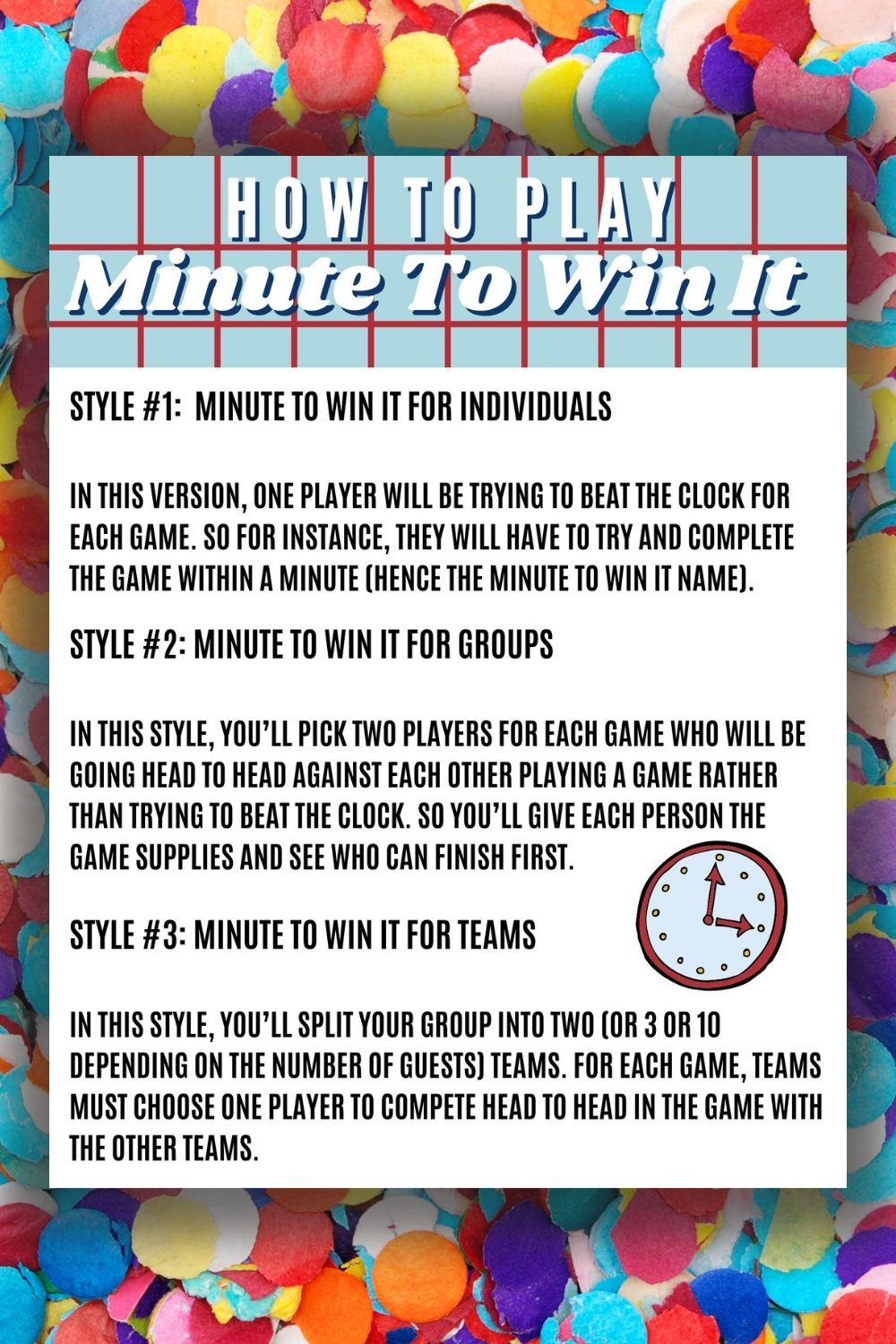 Minute to Win It Games PDF