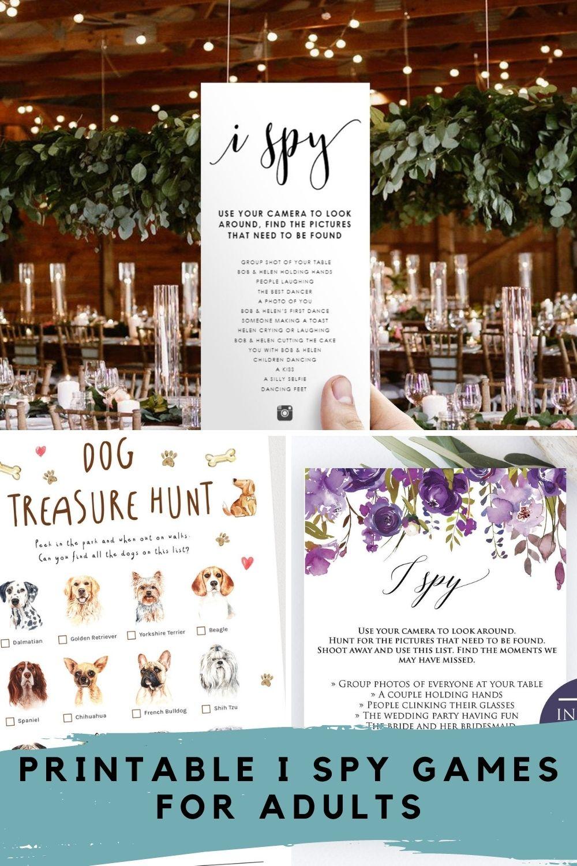 I Spy Game Printable for Weddings