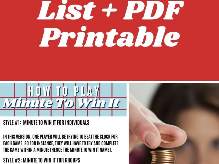Printable Games List