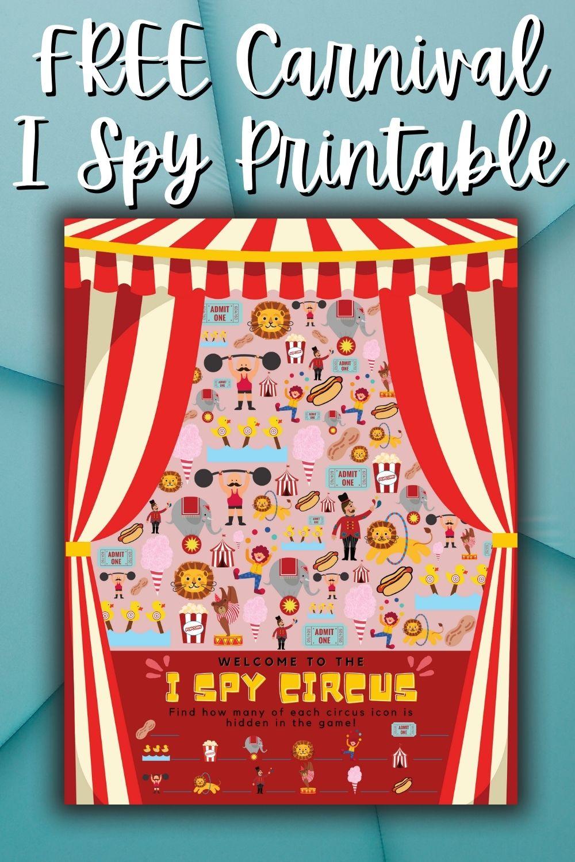 FREE Carnival Game Printable For I SPY
