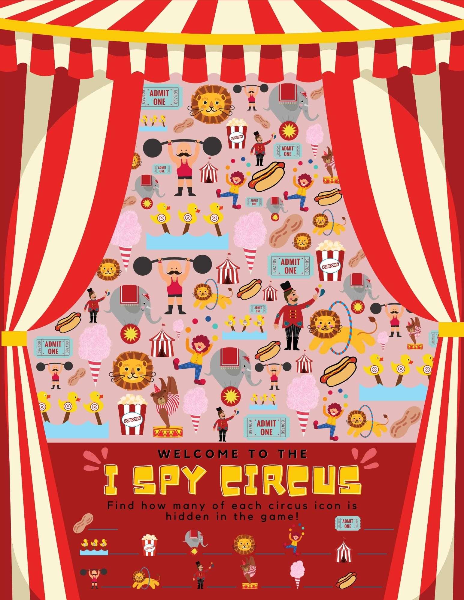 FREE Printable I Spy Game