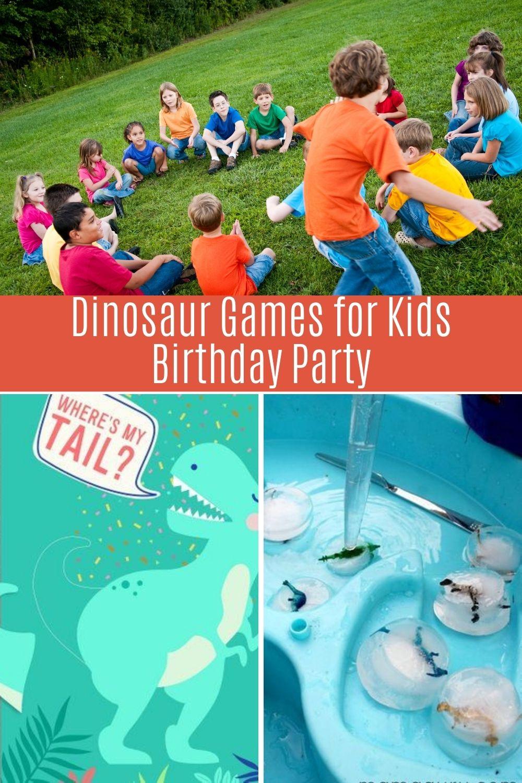 Dinosaur Birthday Games